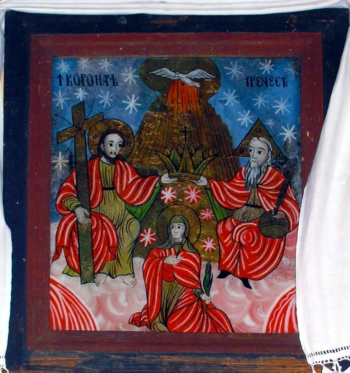 Încoronarea Precistei - Mărginimea Sibiului - biserica din Ţeline (satul vecin)